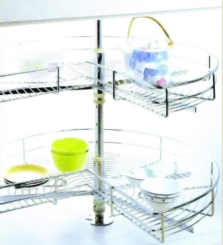 Kitchen Cabinet Accessories 270' Swivel Basket